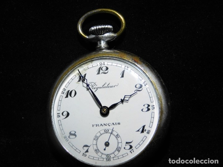 REGULATEUR-RELOJ DE BOLSILLO-FRANCIA-CIRCA 1910-FUNCIONANDO (Relojes - Bolsillo Carga Manual)