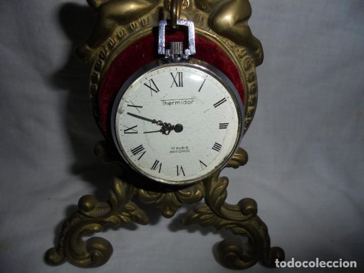 RELOJ DE BOLSILLO CARGA MANUAL THERMIDOR.FUNCIONANDO.ESFERA RESTAURADA.SOPORTE NO INCLUIDO (Relojes - Bolsillo Carga Manual)