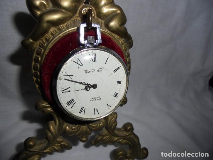 Relojes de bolsillo: RELOJ DE BOLSILLO CARGA MANUAL THERMIDOR.FUNCIONANDO.ESFERA RESTAURADA.SOPORTE NO INCLUIDO - Foto 4 - 130798732