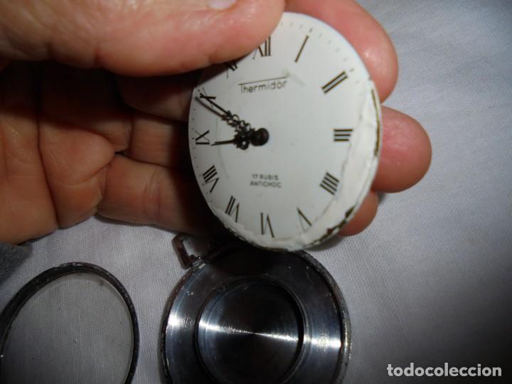 Relojes de bolsillo: RELOJ DE BOLSILLO CARGA MANUAL THERMIDOR.FUNCIONANDO.ESFERA RESTAURADA.SOPORTE NO INCLUIDO - Foto 11 - 130798732