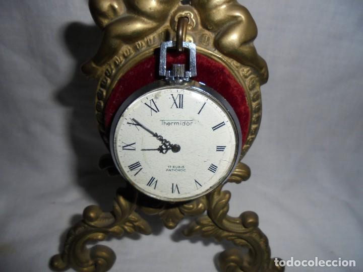 Relojes de bolsillo: RELOJ DE BOLSILLO CARGA MANUAL THERMIDOR.FUNCIONANDO.ESFERA RESTAURADA.SOPORTE NO INCLUIDO - Foto 13 - 130798732