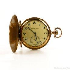 Relojes de bolsillo: CRONÓMETRO MODERNO QUILLET - PLATA Y CHAPADO DE ORO 18K- RELOJ DE BOLSILLO PARA HOMBRE - 1900-1910. Lote 131153428