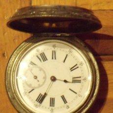 Relojes de bolsillo: RELOJ REMONTOIR DE PLATA 15 RUBIS. 3 TAPAS. LIGNE DROITE ANCRE. SIGLO XIX. BUEN ESTADO.. Lote 131534582