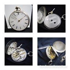 Relojes de bolsillo: RELOJ LEPINE CYLINDRE-DE PLATA-CIRCA 1890-2 TAPAS-FRANCIA-FUNCIONANDO-MAESTROS RELOJEROS FRANCESES-. Lote 130790888