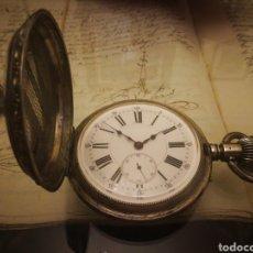 Relojes de bolsillo: RELOJ DE BOLSILLO DE PLATA 75 MM DE DIAMETRO. FUNCIONANDO. ANCAE LINE DAOITE. Lote 131645147