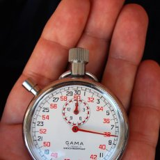 Relojes de bolsillo: ANTIGUO RELOJ CRONOMETRO DE CUERDA SUIZO MARCA GAMA 7 JEWELS. Lote 131661906