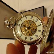 Relojes de bolsillo: RELOJ DE CUERDA DE BOLSILLO, IMPECABLE, LIGERO DEFECTO.. Lote 132045482
