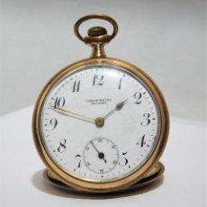 Relojes de bolsillo: CHONOMETRE MODERNE-2 TAPAS-RELOJ DE BOLSILLO-CIRCA 1920-FUNCIONANDO-. Lote 132204306