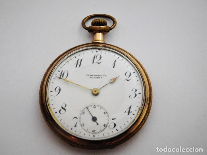 Relojes de bolsillo: CHONOMETRE MODERNE-2 TAPAS-RELOJ DE BOLSILLO-CIRCA 1920-FUNCIONANDO- - Foto 4 - 132204306