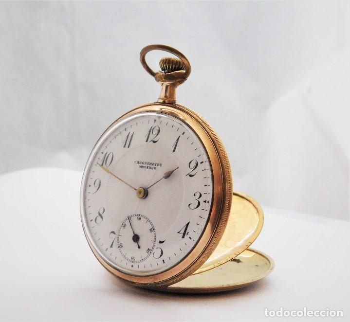 Relojes de bolsillo: CHONOMETRE MODERNE-2 TAPAS-RELOJ DE BOLSILLO-CIRCA 1920-FUNCIONANDO- - Foto 11 - 132204306