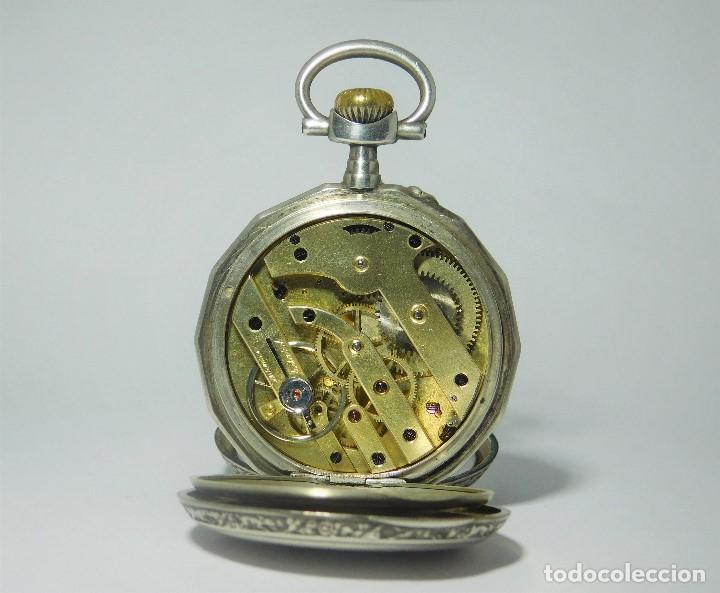 Relojes de bolsillo: RELOJ LEPINÉ CYLINDRE-3 TAPAS-RELOJ DE BOLSILLO DE PLATA-FRANCIA-CIRCA 1890-FUNCIONANDO- - Foto 2 - 132807143