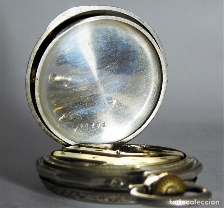 Relojes de bolsillo: RELOJ LEPINÉ CYLINDRE-3 TAPAS-RELOJ DE BOLSILLO DE PLATA-FRANCIA-CIRCA 1890-FUNCIONANDO- - Foto 10 - 132807143