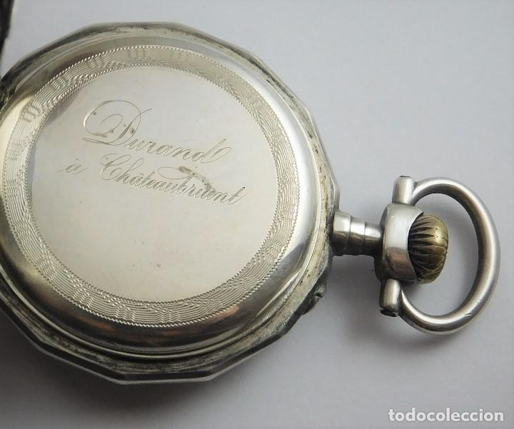 Relojes de bolsillo: RELOJ LEPINÉ CYLINDRE-3 TAPAS-RELOJ DE BOLSILLO DE PLATA-FRANCIA-CIRCA 1890-FUNCIONANDO- - Foto 14 - 132807143