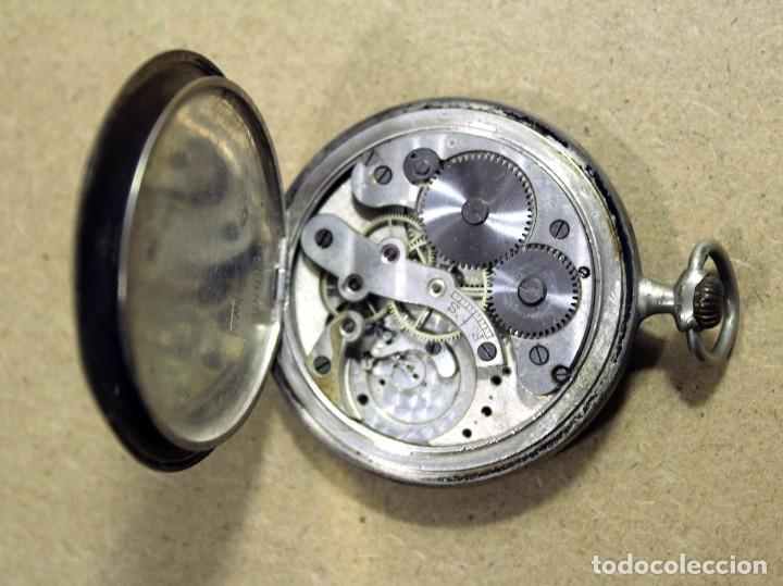 RELOJ SUIZO DE BOLSILLO PONCTUA PLATA 0,800 (Relojes - Bolsillo Carga Manual)