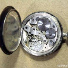 Relojes de bolsillo: RELOJ SUIZO DE BOLSILLO PONCTUA PLATA 0,800. Lote 132314126