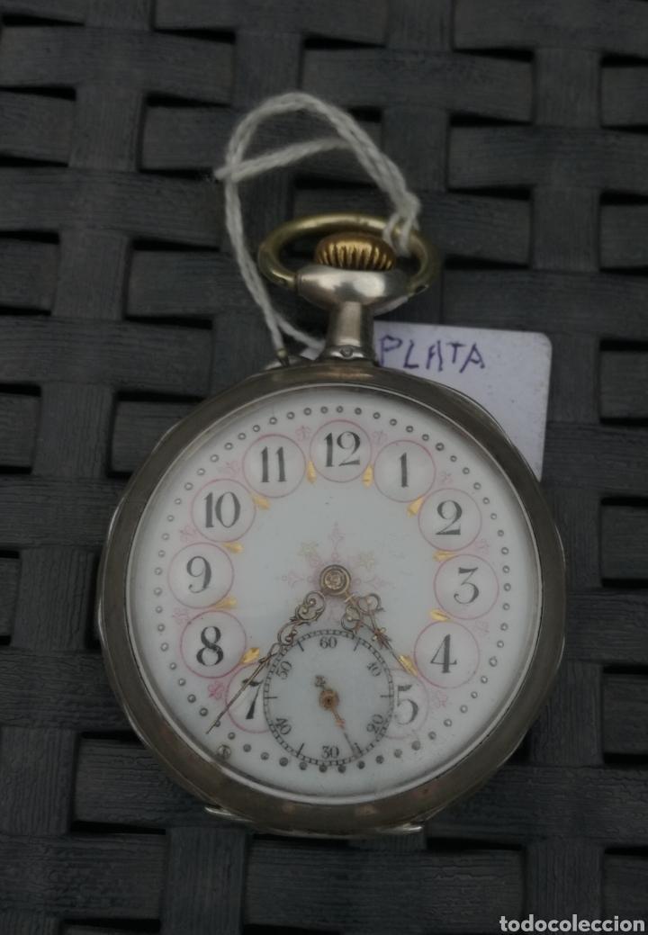 RELOJ DE BOLSILO PLATA CYLINORE REMONTOIR FUNCIONANDO (Relojes - Bolsillo Carga Manual)