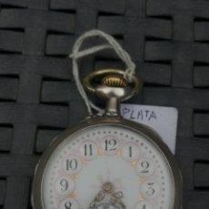 Relojes de bolsillo: RELOJ DE BOLSILO PLATA CYLINORE REMONTOIR FUNCIONANDO. Lote 132319571