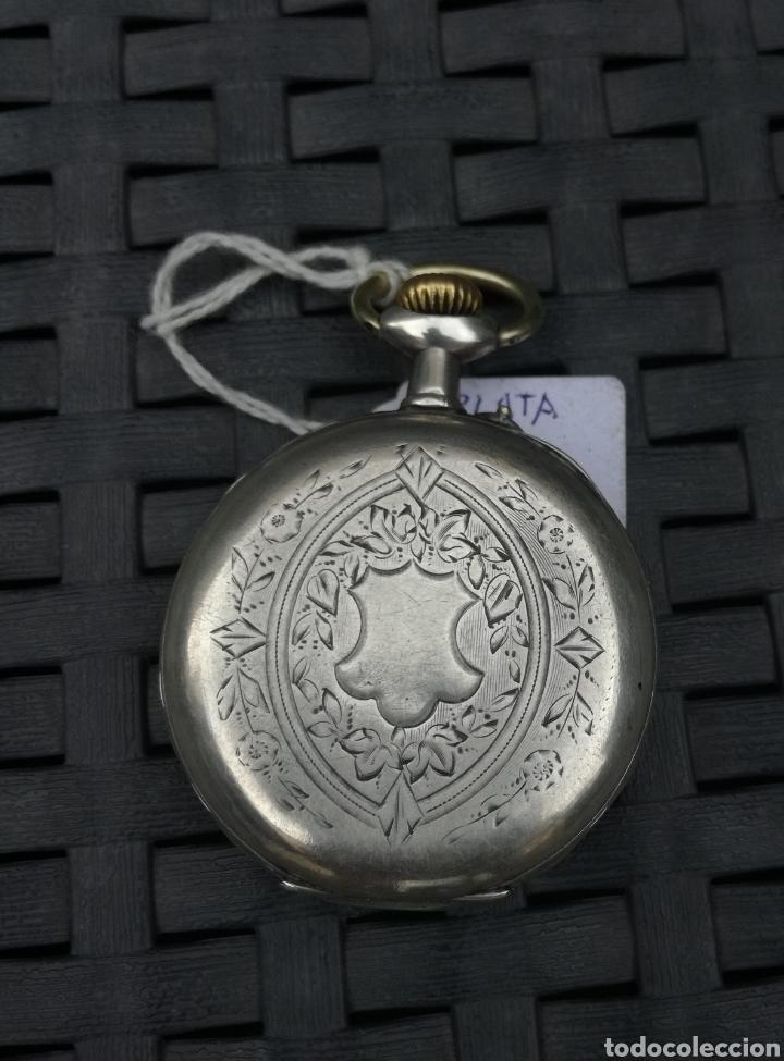 Relojes de bolsillo: Reloj de bolsilo plata cylinore remontoir funcionando - Foto 2 - 132319571