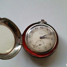 Relojes de bolsillo: ANTIGUO RELOJ BOLSILLO ECCELSO PLATA CARGA MANUAL. Lote 132596798