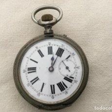 Relojes de bolsillo: RELOJ DE BOLSILLO DE PLATA 800, LUIS RAMSEYER VILLERET SUISSE. Lote 133011970