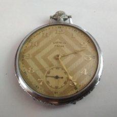 Relojes de bolsillo: RELOJ DE BOLSILLO NATALIS PRIMA, ACERO CON CAJA DECORADA, FUNCIONANDO. Lote 133015658