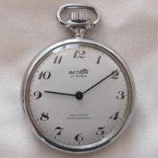 Relojes de bolsillo: RELOJ DE BOLSILLO DE CUERDA ACTION. Lote 133027466