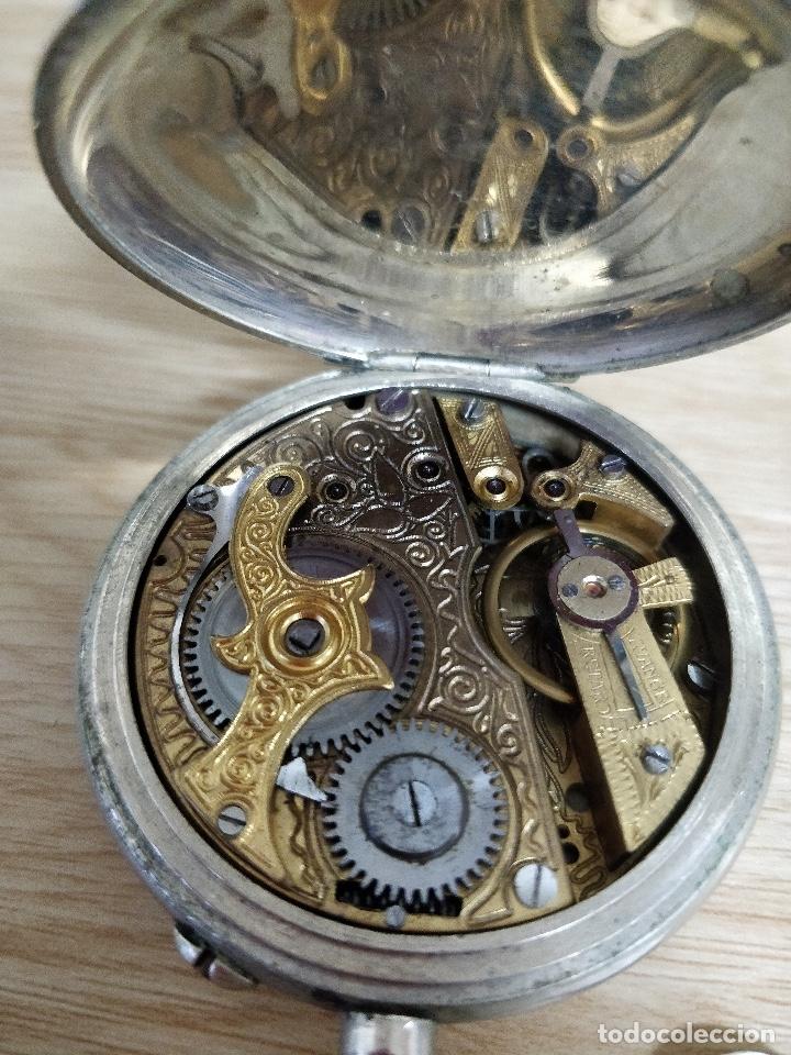 Relojes de bolsillo: RELOJ DE BOLSILLO TIPO ROSKOPF MÁQUINA CINCELADA FUNCIONANDO - Foto 3 - 47510757