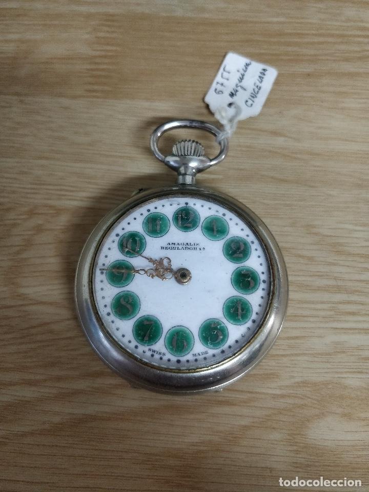 RELOJ DE BOLSILLO TIPO ROSKOPF MÁQUINA CINCELADA FUNCIONANDO (Relojes - Bolsillo Carga Manual)