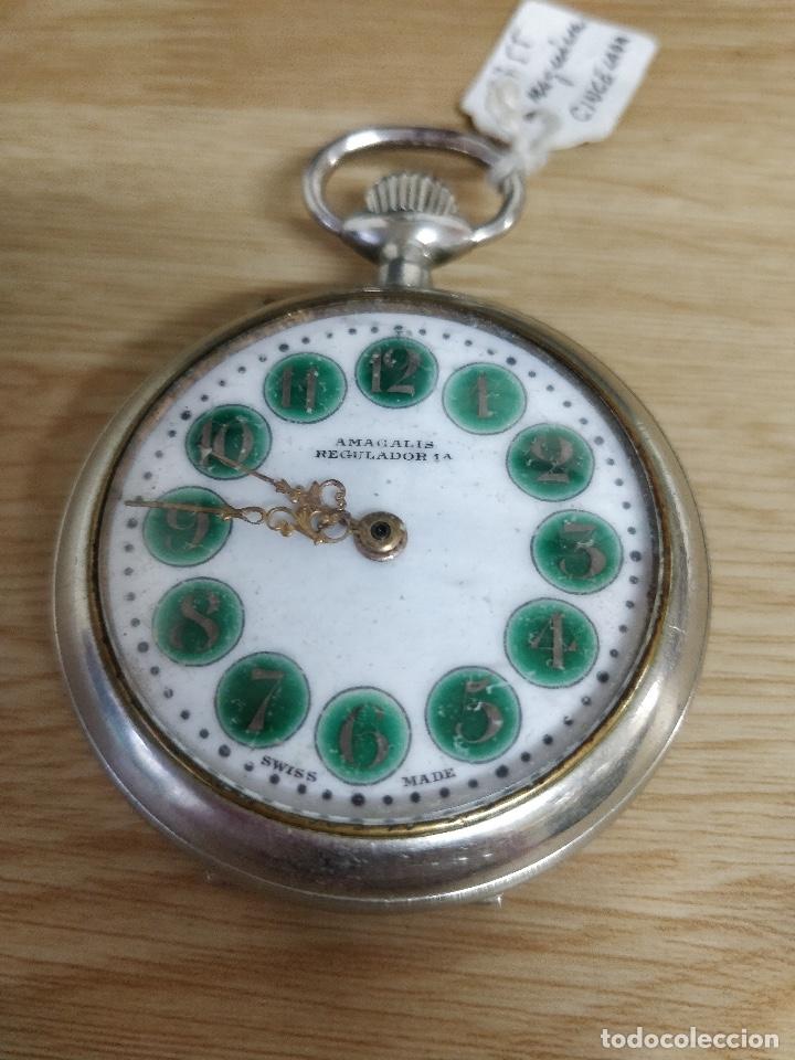 Relojes de bolsillo: RELOJ DE BOLSILLO TIPO ROSKOPF MÁQUINA CINCELADA FUNCIONANDO - Foto 2 - 47510757