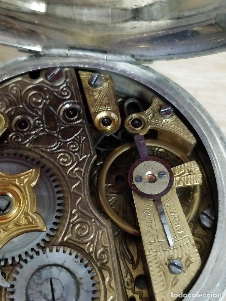 Relojes de bolsillo: RELOJ DE BOLSILLO TIPO ROSKOPF MÁQUINA CINCELADA FUNCIONANDO - Foto 4 - 47510757