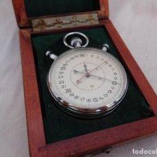 Relojes de bolsillo: CRONOGRAFO RATRAPANTE DE LA MARCA SLAVA CON CAJA ORIGINAL CRONOMETRO. Lote 133140950
