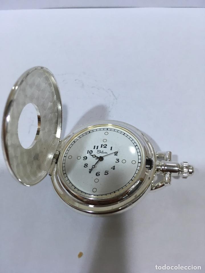 Relojes de bolsillo: RELOJ DE BOLSILLO A CUERDA SILVER - Foto 2 - 133187491