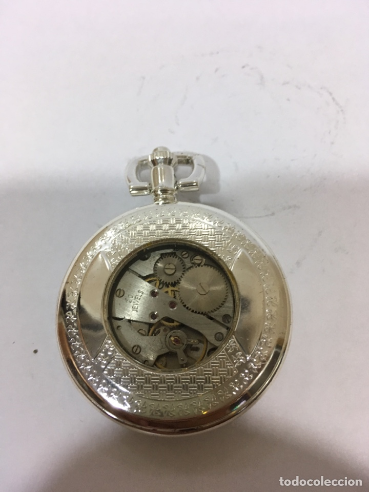 Relojes de bolsillo: RELOJ DE BOLSILLO A CUERDA SILVER - Foto 3 - 133187491
