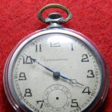 Relojes de bolsillo: RELOJ DE CABALLERO DE CARGA MANUAL - CRONOMETRO - DIAMETRO 50 MM. Lote 133330746
