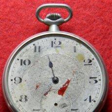 Relojes de bolsillo: RELOJ DE CABALLERO DE CARGA MANUAL - DIAMETRO 46 MM - HECHO EN SUIZA - SAFETY BAREL - 7 JEWELS -. Lote 133332698