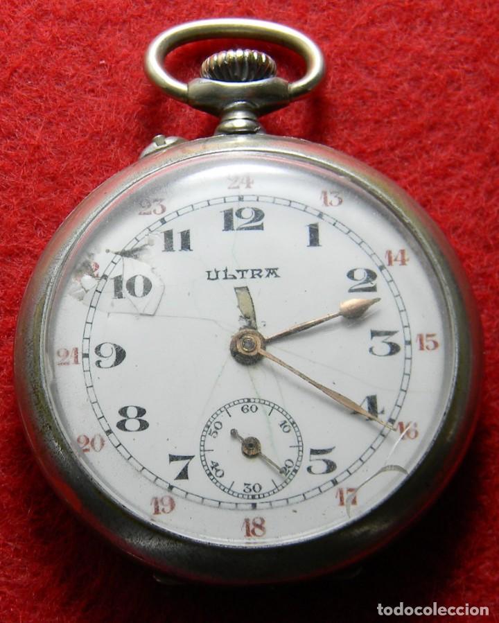RELOJ DE CABALLERO DE CARGA MANUAL MARCA ULTRA - NO FUNCIONA - DIAMETRO 44 MM (Relojes - Bolsillo Carga Manual)