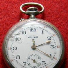 Relojes de bolsillo: RELOJ DE CABALLERO DE CARGA MANUAL MARCA ULTRA - NO FUNCIONA - DIAMETRO 44 MM. Lote 133334074
