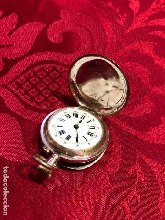 Relojes de bolsillo: RELOJ DE BOLSILLO DE PLATA FINAL SIGLO XIX - REMONTOIR 10 RUBIS - FUNCIONANDO PERFECTAMENTE - Foto 2 - 133343258