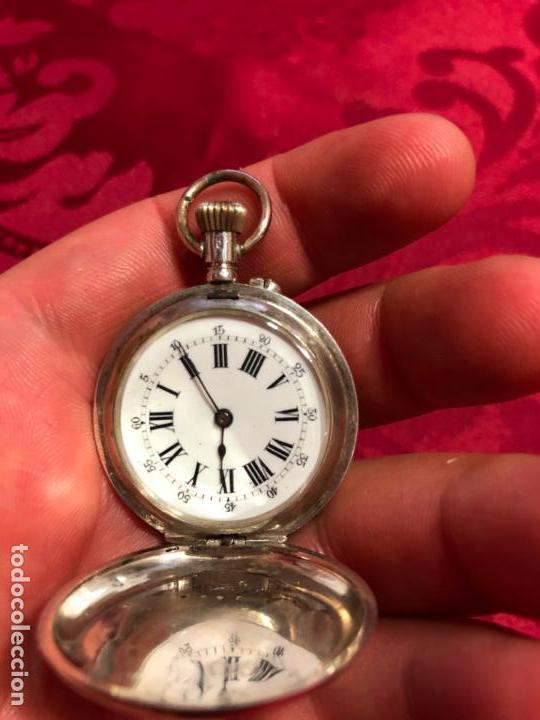 Relojes de bolsillo: RELOJ DE BOLSILLO DE PLATA FINAL SIGLO XIX - REMONTOIR 10 RUBIS - FUNCIONANDO PERFECTAMENTE - Foto 9 - 133343258
