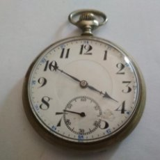 Relojes de bolsillo: ANTIGUO RELOJ BOLSILLO DE ACERO, WATTMAN, 48 MM, 15 RUBIS, ESTA FUNCIONANDO . Lote 133404938