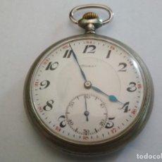 Relojes de bolsillo: ANTIGUO RELOJ BOLSILLO DE ACERO, DOXA, 50 MM, LIEGE 1905, ESTA FUNCIONANDO. Lote 133406638
