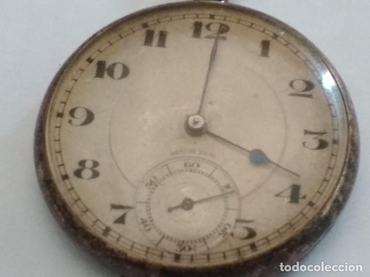 Relojes de bolsillo: ANTIGUO RELOJ BOLSILLO DE PLATA, MUÑOZ, 45 MM, , ESTA FUNCIONANDO - Foto 2 - 133409214