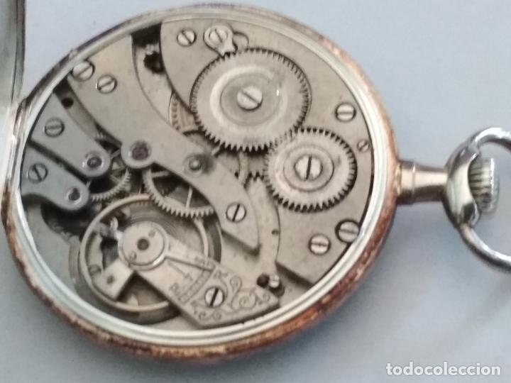 Relojes de bolsillo: ANTIGUO RELOJ BOLSILLO DE PLATA, MUÑOZ, 45 MM, , ESTA FUNCIONANDO - Foto 5 - 133409214