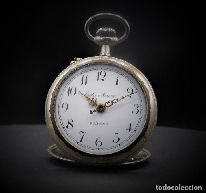 RELOJ DE BOLSILLO-ODLA ANCRE PATENT-REMONTOIRE-2 TAPAS-CIRCA 1920-BREVETE SUIZO-FUNCIONANDO- (Relojes - Bolsillo Carga Manual)