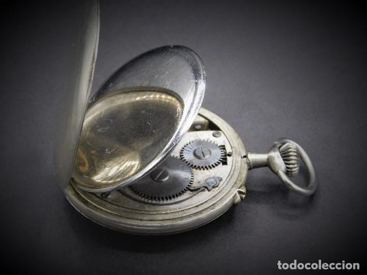 Relojes de bolsillo: RELOJ DE BOLSILLO-ODLA ANCRE PATENT-REMONTOIRE-2 TAPAS-CIRCA 1920-BREVETE SUIZO-FUNCIONANDO- - Foto 2 - 133477854