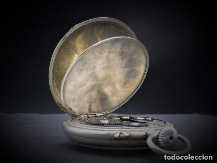 Relojes de bolsillo: RELOJ DE BOLSILLO-ODLA ANCRE PATENT-REMONTOIRE-2 TAPAS-CIRCA 1920-BREVETE SUIZO-FUNCIONANDO- - Foto 4 - 133477854