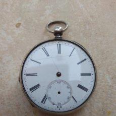 Relojes de bolsillo: RELOJ BOLSILLO PLATA - CYLINDRE HUIT RUBIS. Lote 106730423