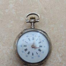 Relojes de bolsillo: RELOJ DE BOLSILLO DE MUJER - PLATA -. Lote 133572730