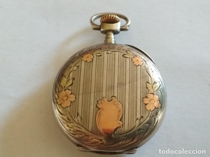 Relojes de bolsillo: RELOJ DE BOLSILLO CABALLERO, FUNCIONANDO NECESITA REVISION, MEDIDA 40 MM, PLATA - Foto 2 - 133597006