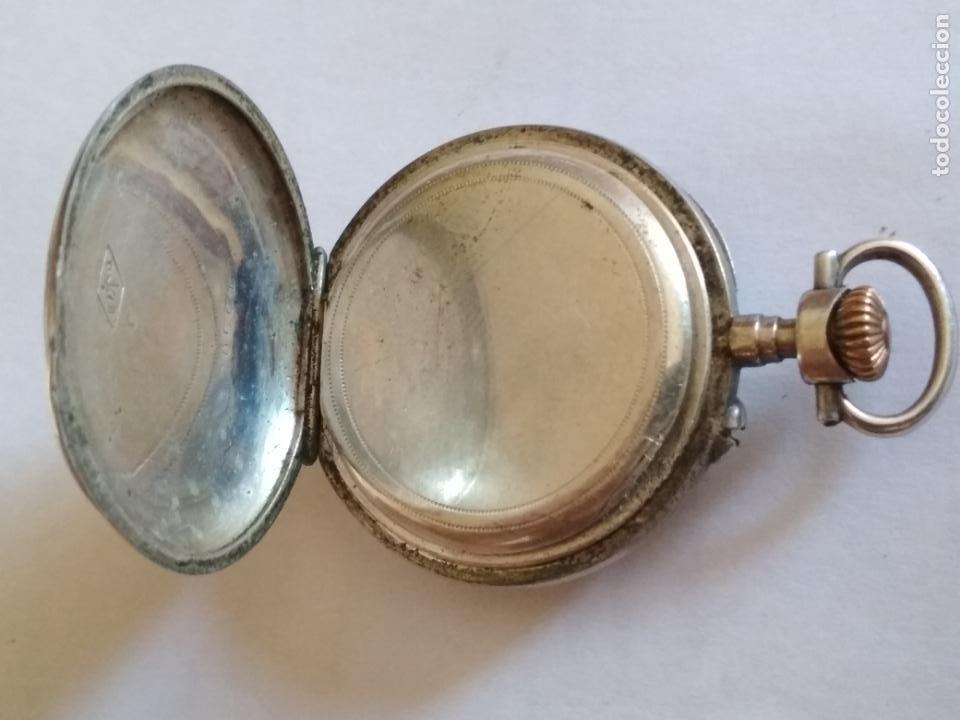 Relojes de bolsillo: RELOJ DE BOLSILLO CABALLERO, FUNCIONANDO NECESITA REVISION, MEDIDA 40 MM, PLATA - Foto 3 - 133597006